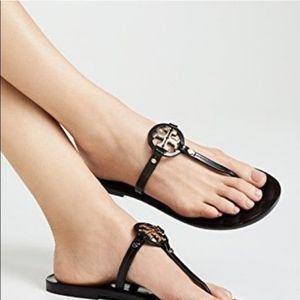 Tory Burch Mini Miller Jelly Flat Flip Flop Sandal